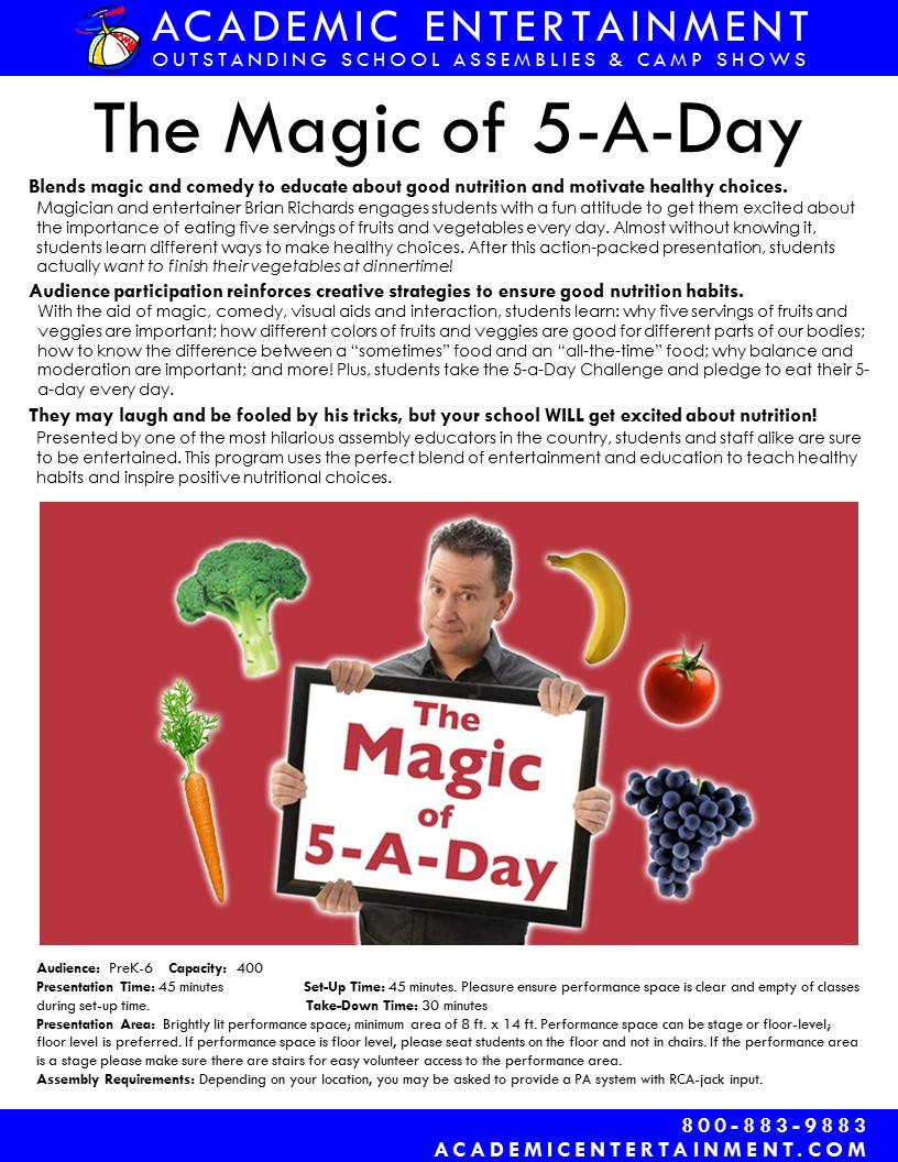 Magic of 5 A Day Datasheet