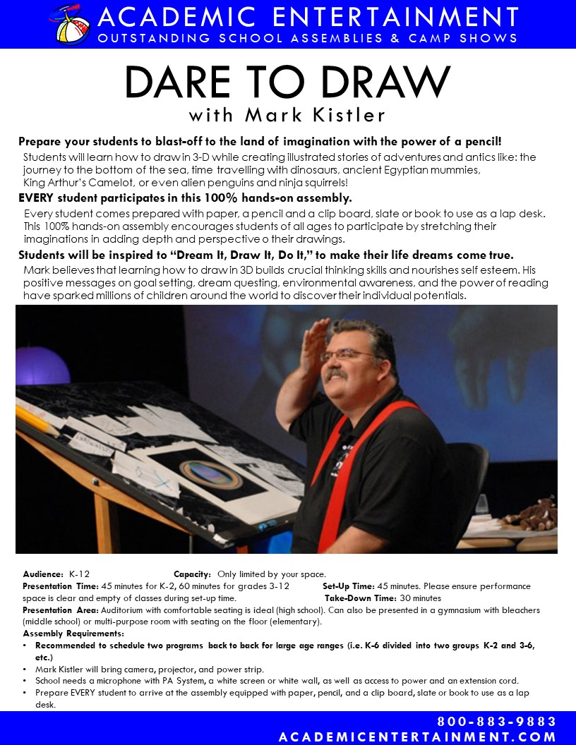 Dare to Draw School Assembly datasheet