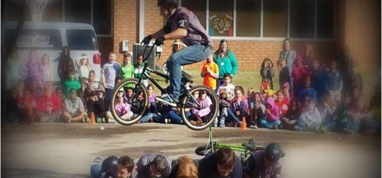 Bike school assembly