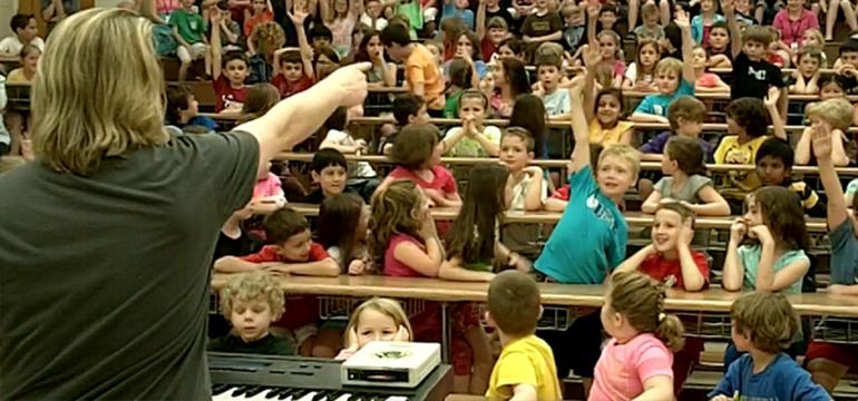 Music Technology school assembly