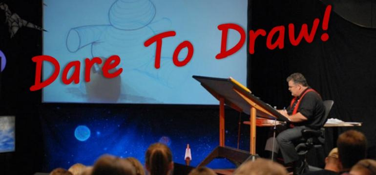Dare To Draw! school assembly