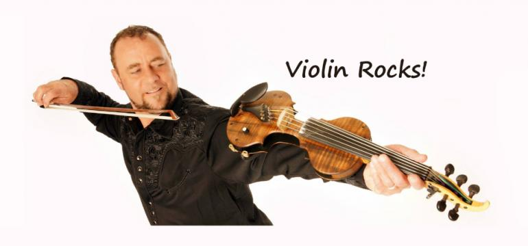 Violin Rocks school assembly