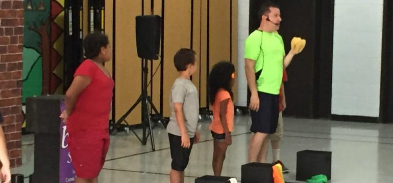 bFit school assembly summer camp show