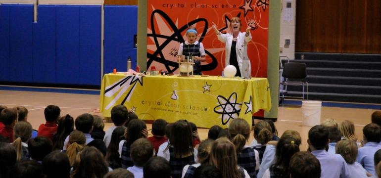 Crystal Clear Science school assembly