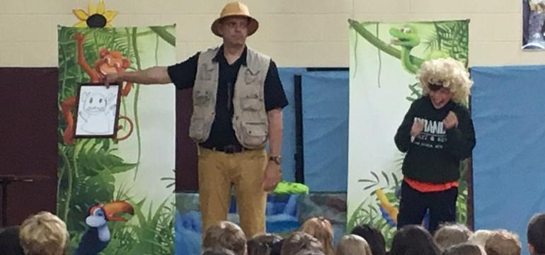 Adventures in Reading school assembly