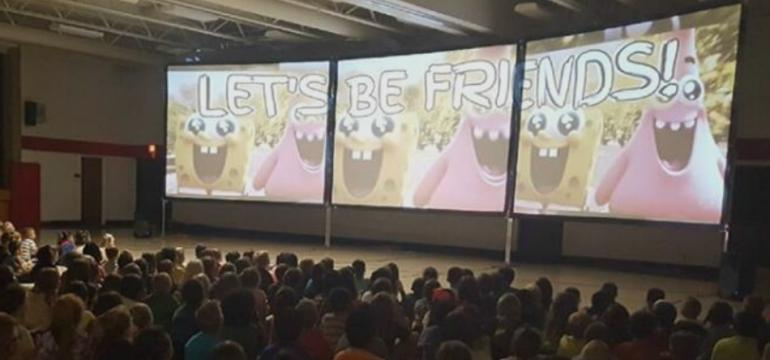3Screens school assembly