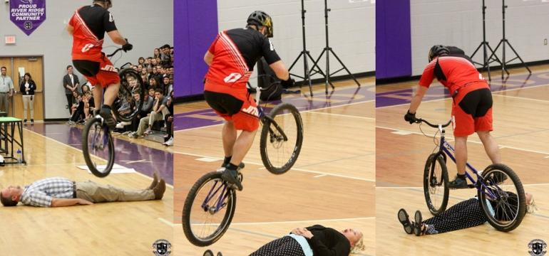 bike stunt show school assembly