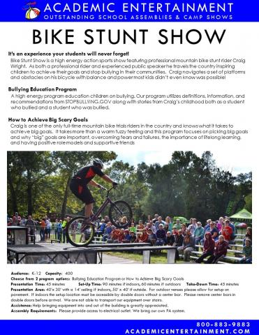 Datasheet Bike Stunt Show School Assembly