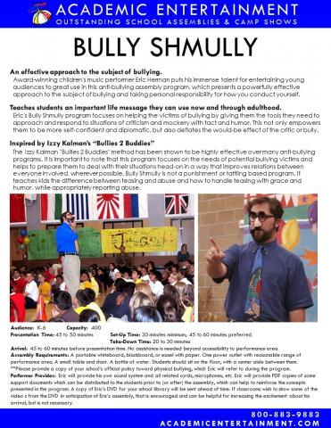 Datasheet Bully Shmully School Assembly