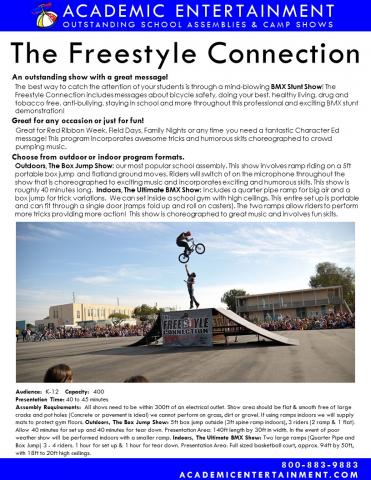 Datasheet Freestyle Connection BMX School Assembly