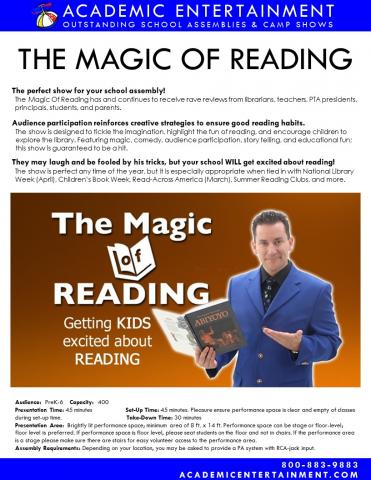Datasheet Magic of Reading School Assembly
