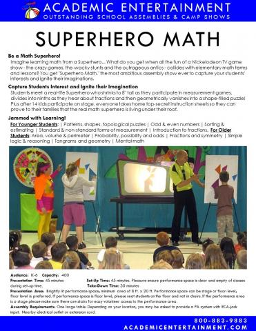 Datasheet Superhero Math School Assembly