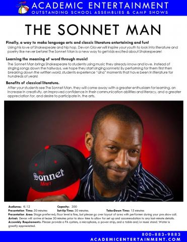 Datasheet The Sonnet Man School Assembly