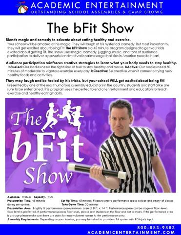 Datasheet The bFit Show School Assembly