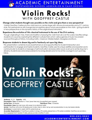 Datasheet Violin Rocks School Assembly
