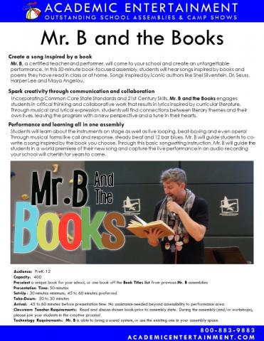 Mr. B & the Books Datasheet