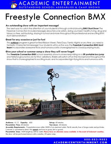 BMX school assembly datasheet
