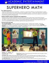 Superhero Math datasheet