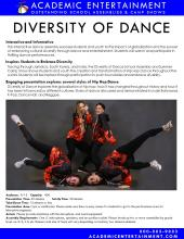Datasheet Diversity of Dance School Assembly and Summer Camp Show