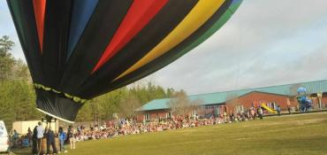 Up and Away Hot Air Balloon school assembly